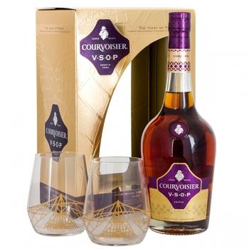 Cognac Courvoisier Vsop*2 Pahare 70cl