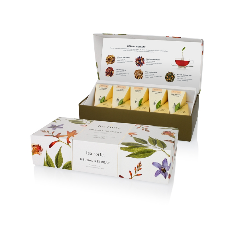 Ceai Tea Forte Ribbon Box  Herbal Retreat 10 Buc  0