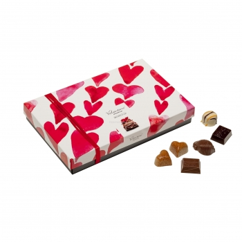VALENTINO PRALINE BELGIENE AS0RTATE HEART BOX 225G