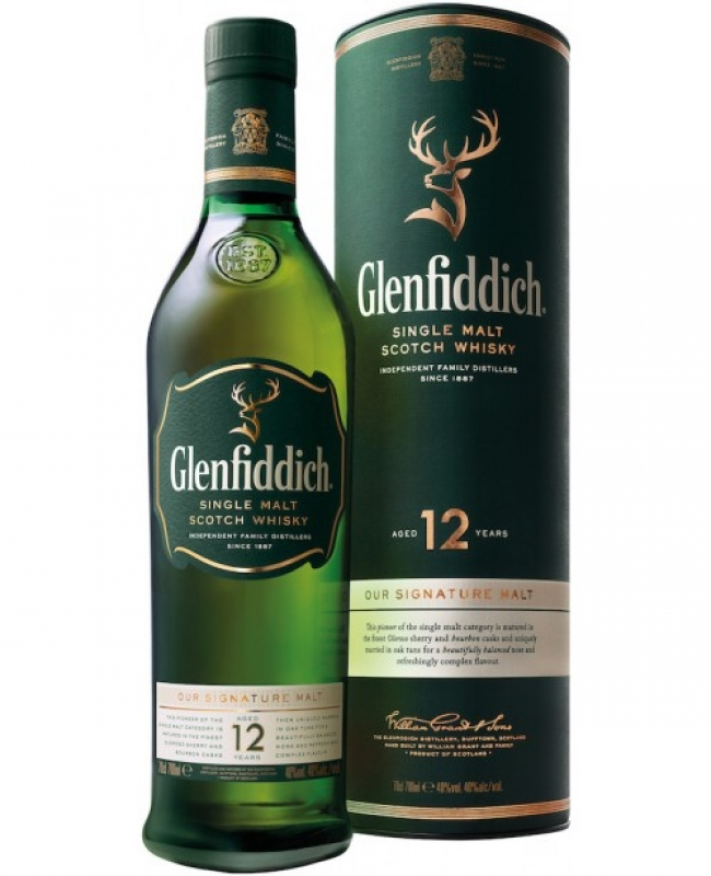 WHISKY GLENFIDDICH 12YO 70CL 0