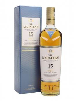 WHISKY MACALLAN 15YO TRIPLE CASK 0.7L