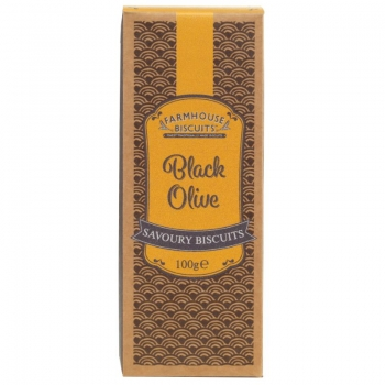 CRACKERS CU MASLINE NEGRE SAVOIRE FARMHOUSE 100G